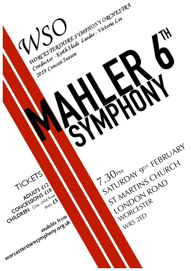 Feb Concert Poster - Mahler 6